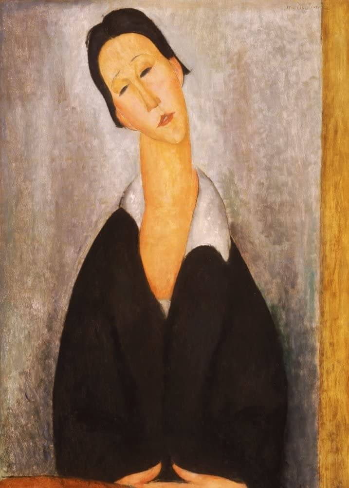 Amedeo Modigliani 'Portrait of a Polish Woman, Detail', Italy, 1919, Reproduction 200gsm A3 Vintage Classic Art Poster