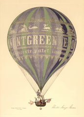 Vintage Travel Germany 'Ballooning', 1800's, Reproduction 200gsm A3 Vintage Travel Poster
