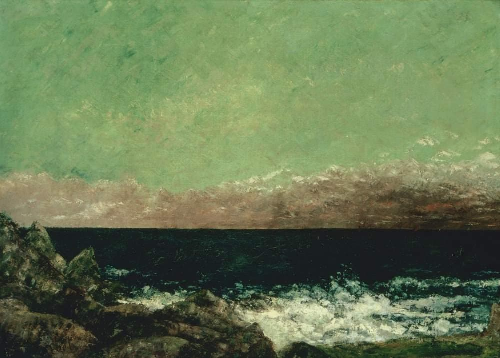 Gustave Courbet 'The Mediterranean', France, 1857, Reproduction 200gsm A3 Vintage Classic Art Poster