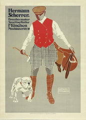 Ludwig Hohlwein 'Herman Scherrer Sporting Tailors', Germany, 1911, Reproduction 200gsm A3 Vintage Sports, Hunting and Clothes Poster