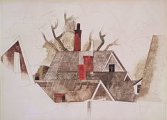 Charles Demuth 'Red Chimneys', U.S.A, 1918, Cubism Avant Garde, Reproduction 200gsm A3 Vintage Classic Art Poster