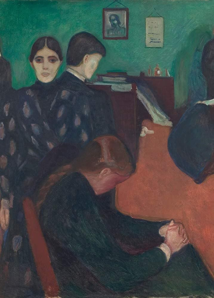 Edvard Munch 'Death in The Sickroom, Detail', Norway, 1893, Reproduction 200gsm A3 Vintage Classic Art Poster