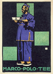 Ludwig Hohlwein 'Marco Polo Tea', Germany, 1910, Reproduction 200gsm A3 Vintage Coffee, Teas and Soft Drinks Poster