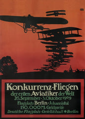 Vintage Travel Germany 'Berlin Air Show', 1909, Reproduction 200gsm A3 Vintage Travel Poster