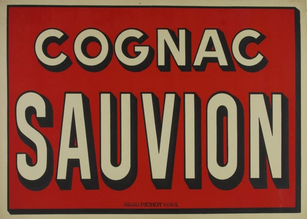 Vintage Beers, Wines and Spirits 'Cognac Sauvion', France, 1920, Reproduction 200gsm A3 Vintage Art Deco Poster