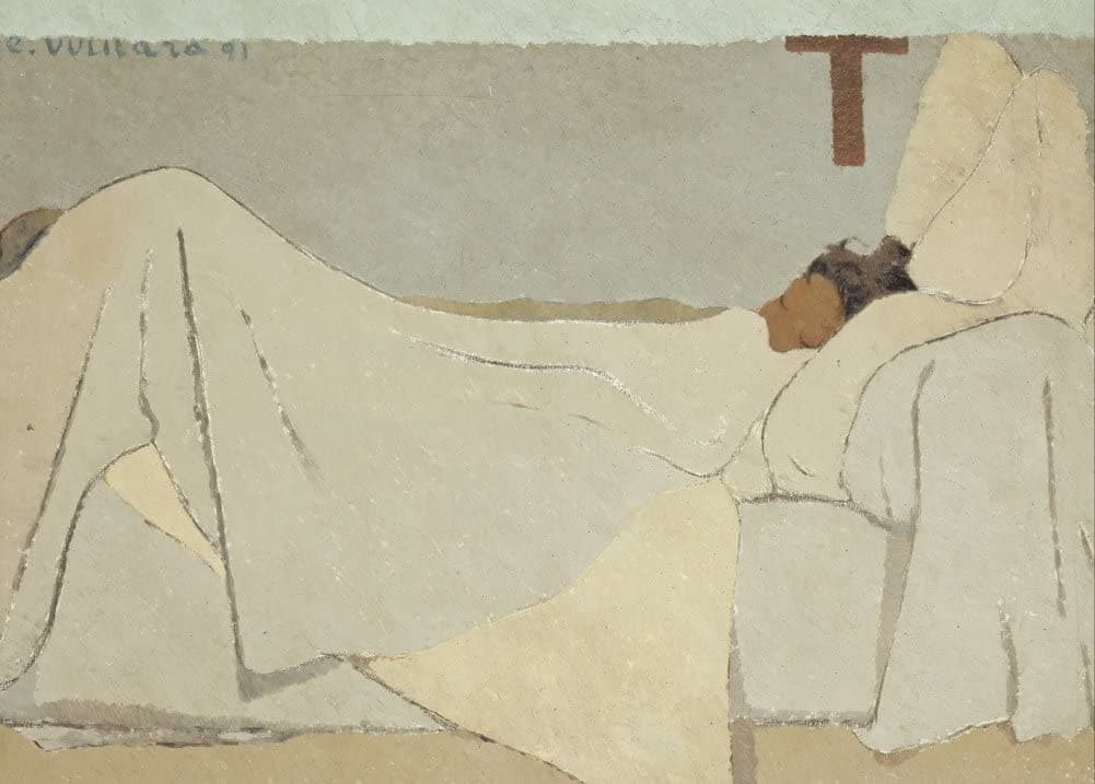 Edouard Vuillard 'Bed, Detail', France, 1891, Impressionism, Reproduction 200gsm A3 Vintage Classic Art Poster