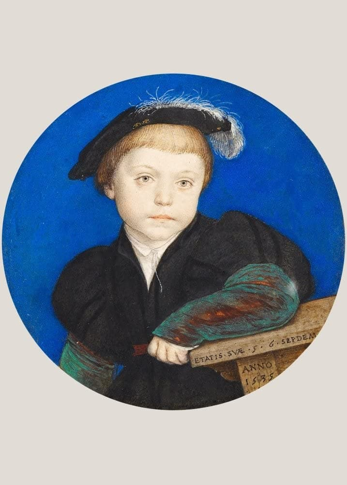 Hans Holbein The Younger 'Henry Brandon, 2nd Duke of Suffolk', Germany, 1540-42, Renaissance, Reproduction 200gsm A3 Vintage Classic Art Poster