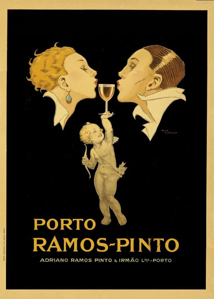 Vintage Beers, Wines and Spirits 'Porto Ramos Pinto Wine', Italy, 1920, Reproduction 200gsm A3 Vintage Art Deco Poster