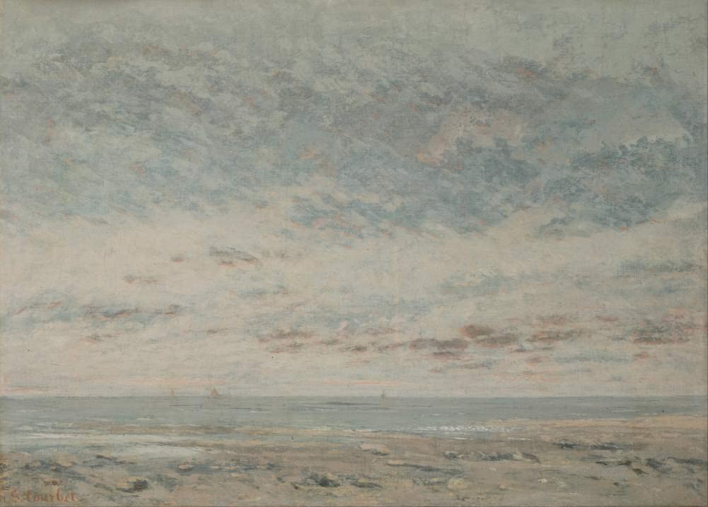 Gustave Courbet 'Low Tide at Trouville', France, 1865, Reproduction 200gsm A3 Vintage Classic Art Poster
