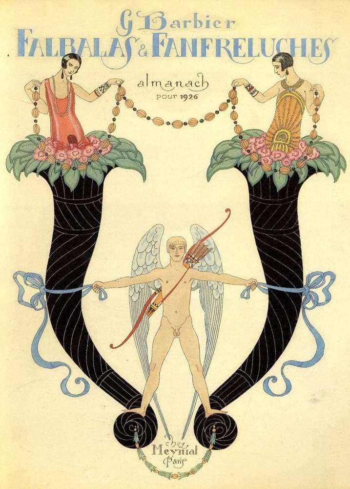George Barbier 'Falbas and Fanfreluches', France, 1926, Reproduction 200gsm A3 Vintage Classic Art Deco Poster