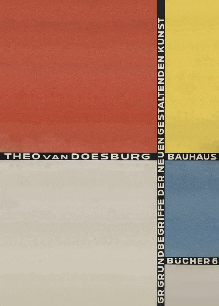 Theo Van Doesburg 'Basic Concepts of The New Concepts of The New Formative Art', Netherlands, 1925, Reproduction 200gsm A3 Vintage De Stijl Poster