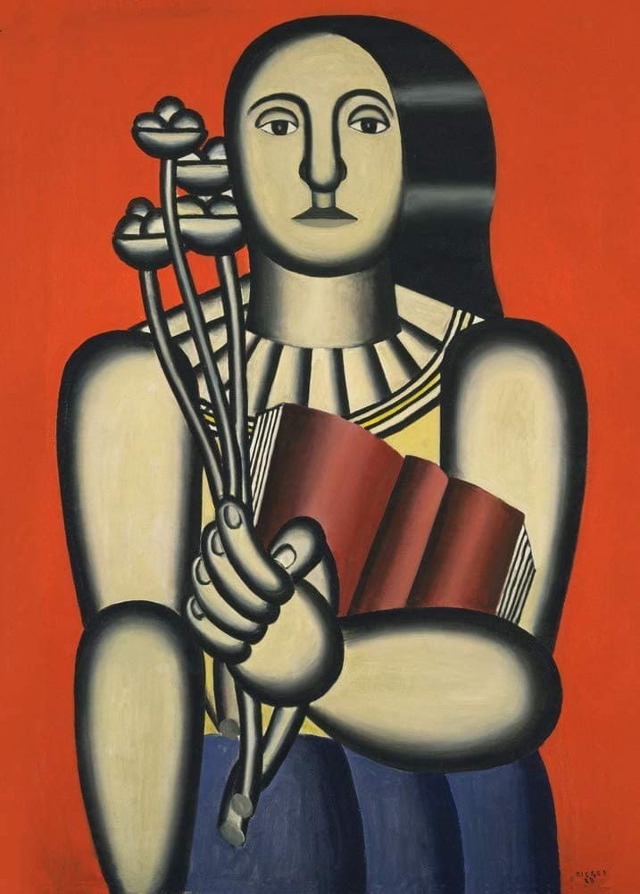 Fernand Leger 'Woman with a Book', France, 1923, Reproduction 200gsm A3 Vintage Classic Art Poster