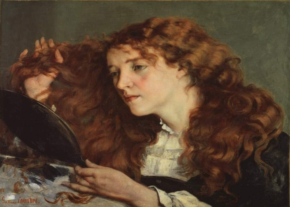 Gustave Courbet 'Jo, The Beautiful Irish Girl', France, 1866, Reproduction 200gsm A3 Vintage Classic Art Poster