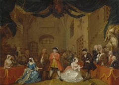 William Hogarth 'The Beggar's Opera', England, 18th Century, Reproduction 200gsm A3 Classic Art Poster