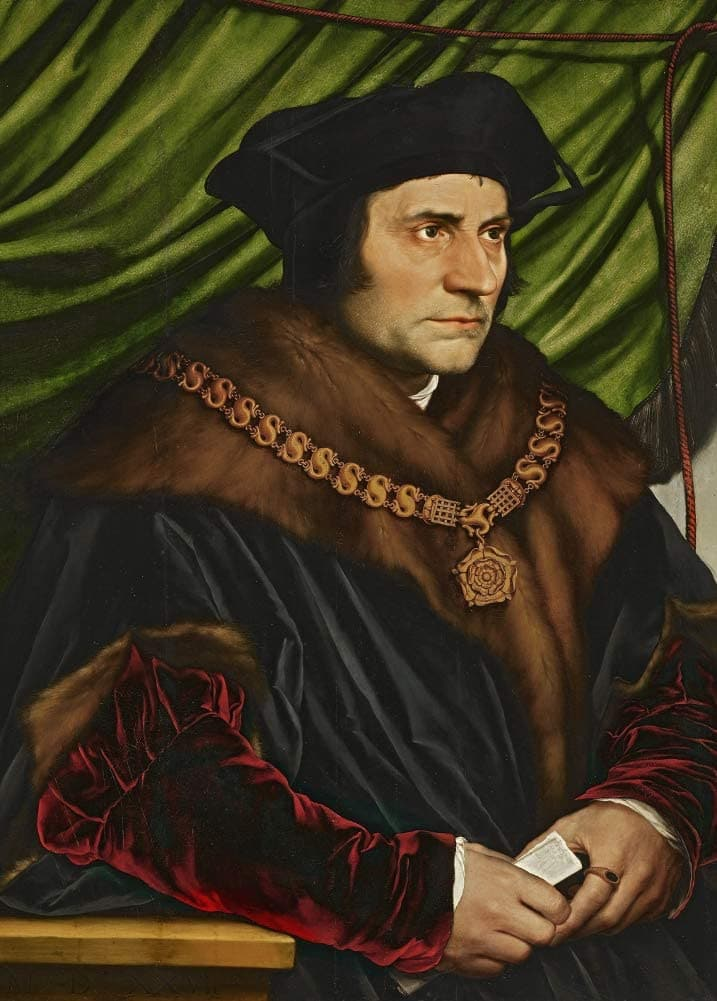 Hans Holbein The Younger 'Sir Thomas More', Germany, 1527, Renaissance, Reproduction 200gsm A3 Vintage Classic Art Poster