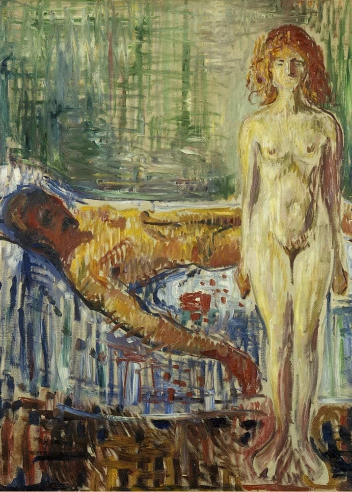 Edvard Munch 'Death of Marat II, Detail', Norway, 1907, Reproduction 200gsm A3 Vintage Classic Art Poster