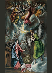 El Greco 'The Annunciation', 1596-1600, Spain, Reproduction 200gsm A3 Classic Art Poster