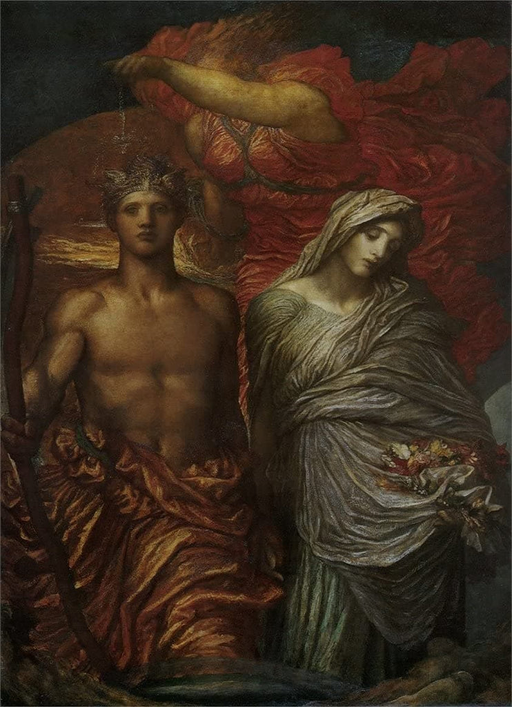 George Frederic Watts 'Time, Death and Judgement', England, 1886, Reproduction 200gsm A3 Vintage Classic Art Poster