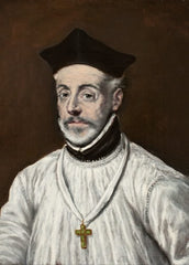 El Greco 'Portrait of Diego de Covarrubias y Leiva, Detail', 1600, Spain, Reproduction 200gsm A3 Classic Art Poster