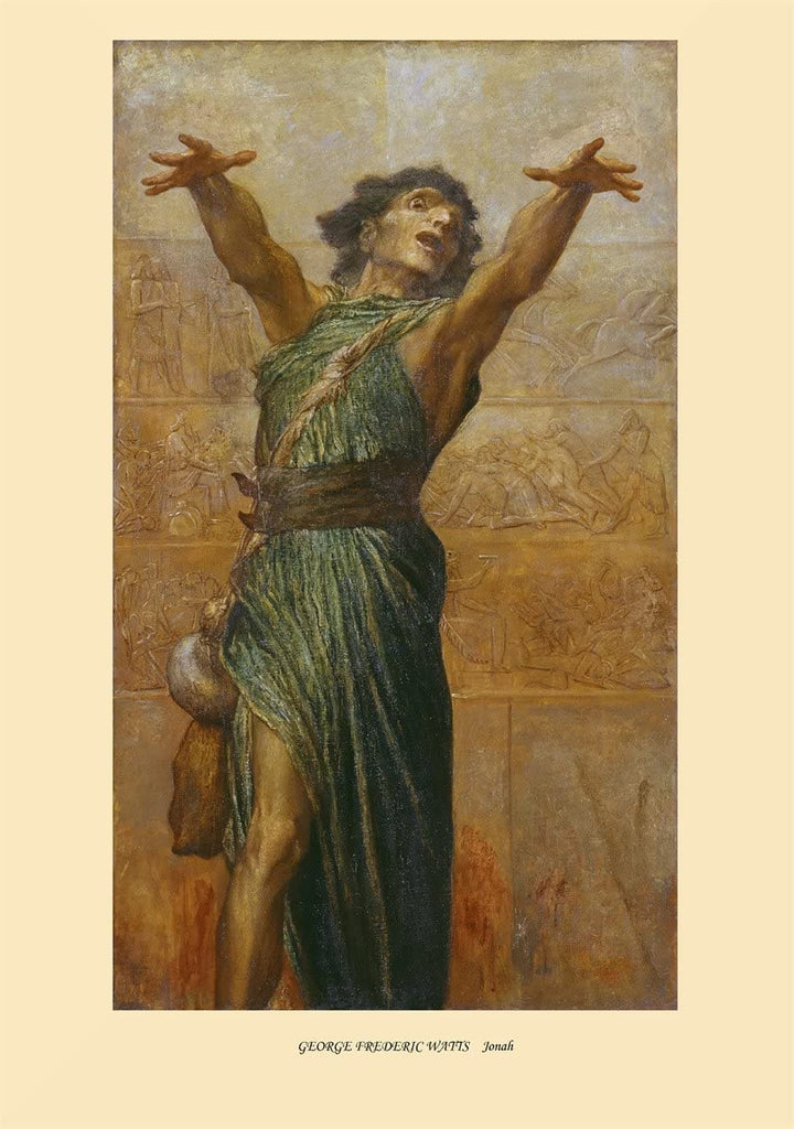 George Frederic Watts 'Jonah', England, 1894, Reproduction 200gsm A3 Vintage Classic Art Poster