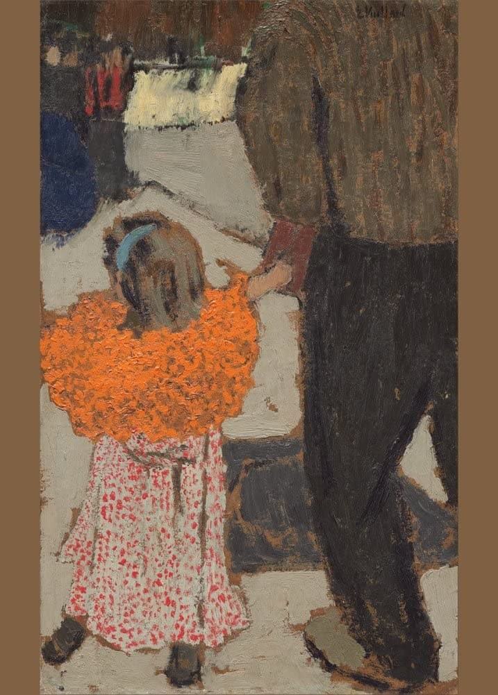 Edouard Vuillard 'Child Wearing a Red Scarf', France, 1891, Impressionism, Reproduction 200gsm A3 Vintage Classic Art Poster