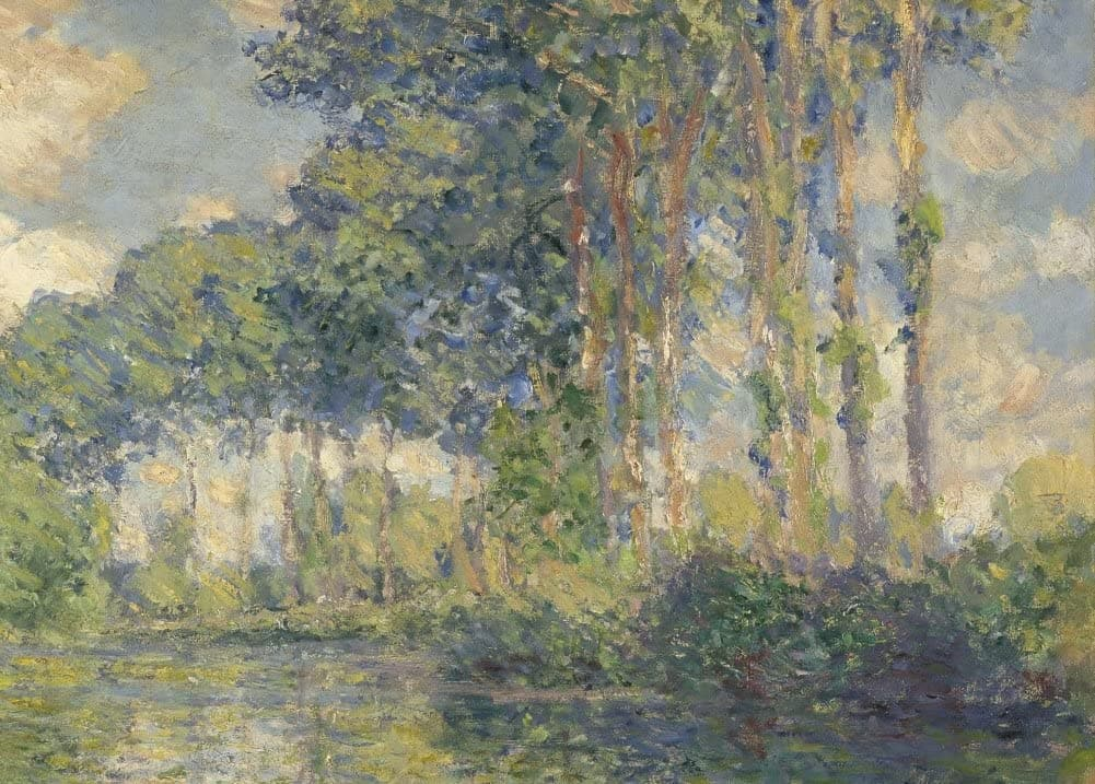 Claude Monet 'Poplars on The Epte, Detail', France, 1891, Impressionism, Reproduction 200gsm A3 Vintage Classic Art Poster