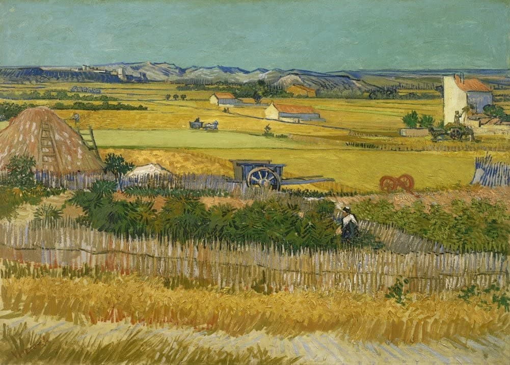 Vincent Van Gogh 'The Harvest', 1888, Netherlands, Reproduction 200gsm A3 Vintage Classic Art Poster
