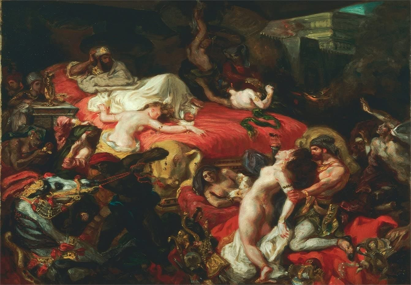 Eugene Delacroix 'The Death of Sardanapalus', 1844, Reproduction 200gsm A3 Vintage Poster