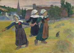 Paul Gauguin 'Breton Girls Dancing, Pont-Aven', France, 1888, Reproduction 200gsm A3 Vintage Classic Art Poster