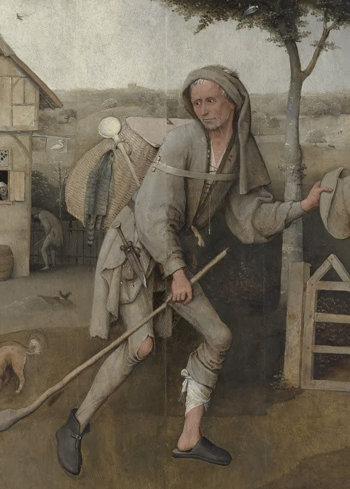 Hieronymus Bosch 'The Peddlar, Detail', Netherlands, 1495-1516, Reproduction 200gsm A3 Vintage Classic Art Poster