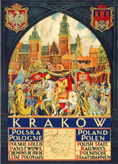 Vintage Travel Poland 'Krakow with Polish State Railways', Circa. 1910, Reproduction 200gsm A3 Vintage Travel Poster