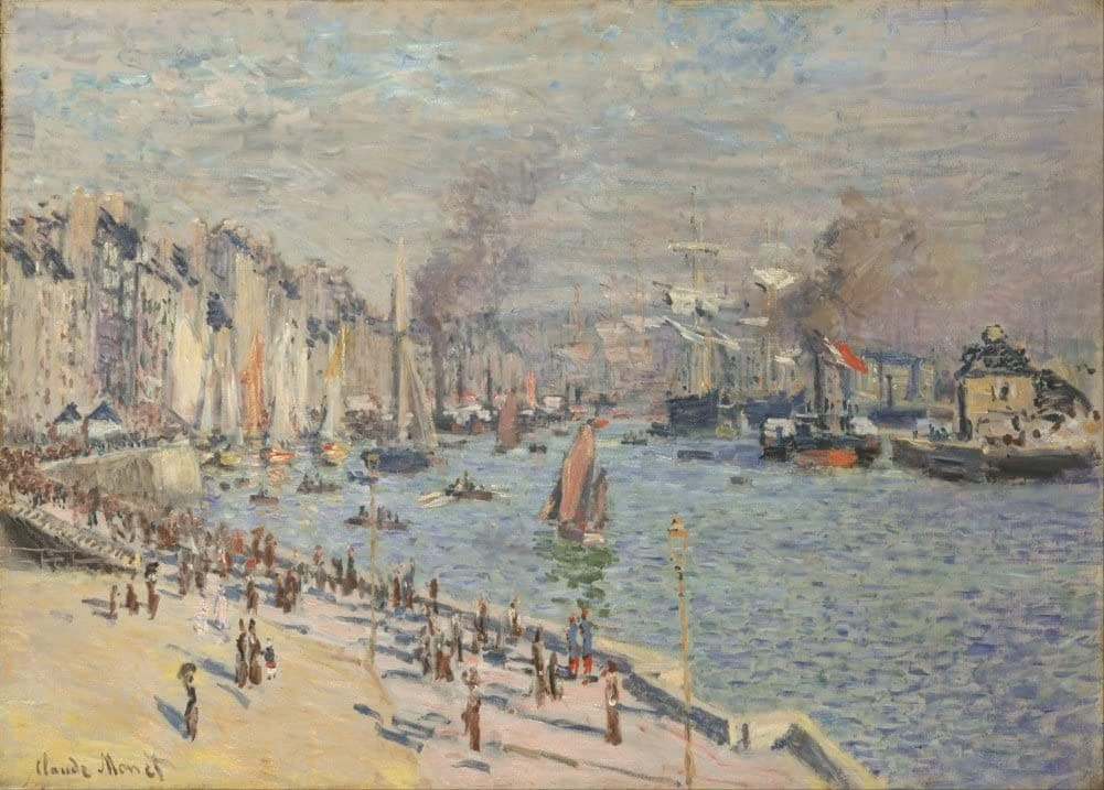 Claude Monet 'Port of Le Havre', France, 1874, Impressionism, Reproduction 200gsm A3 Vintage Classic Art Poster