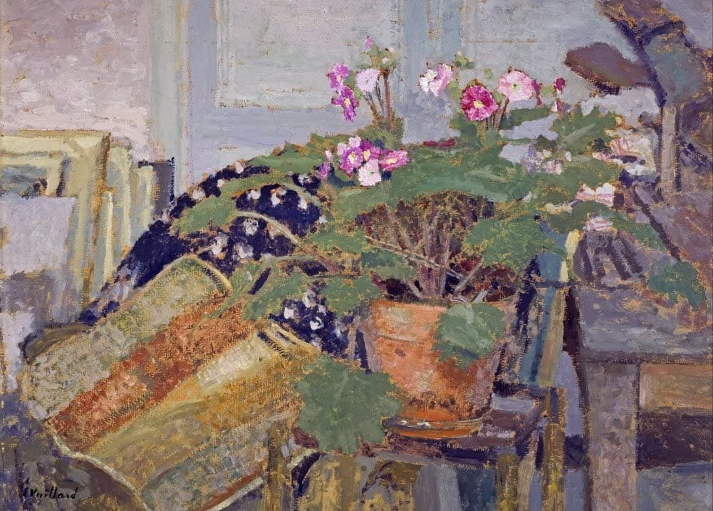 Edouard Vuillard 'Pot of Flowers, Detail', France, 1900, Impressionism, Reproduction 200gsm A3 Vintage Classic Art Poster