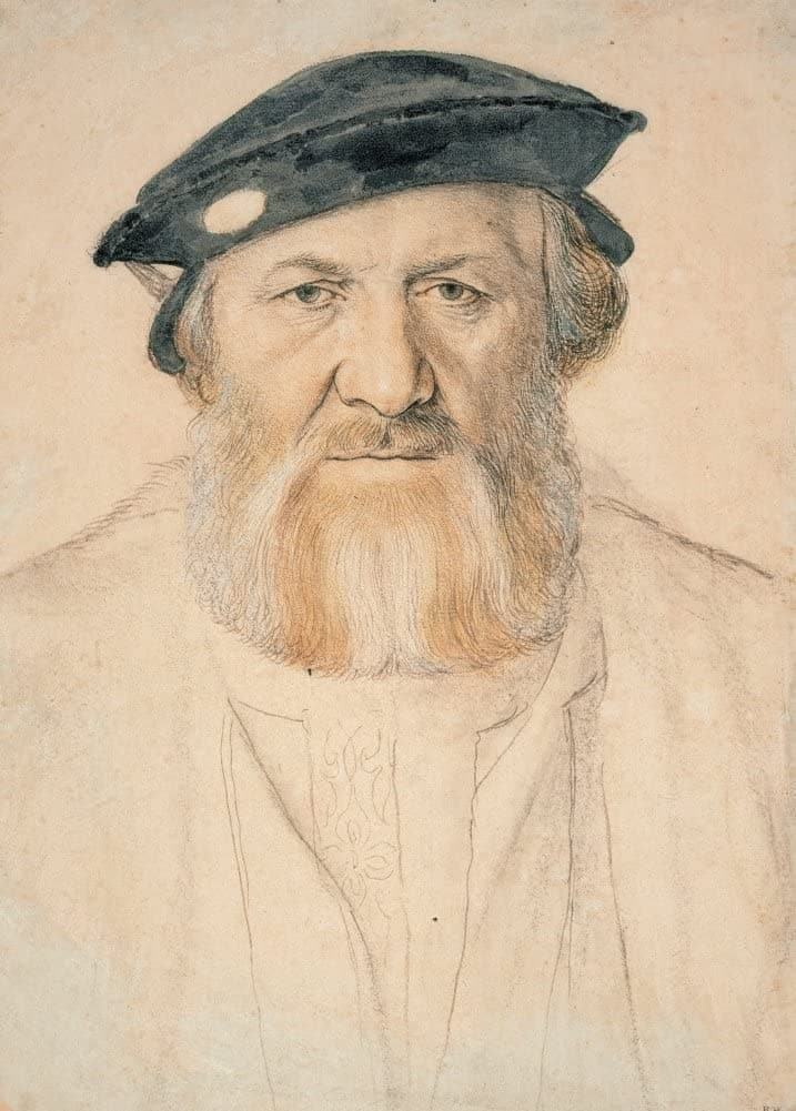 Hans Holbein The Younger 'Portrait of Charles de Solier, Sieur de Morette, Detail', Germany, 1534-35, Renaissance, Reproduction 200gsm A3 Vintage Classic Art Poster
