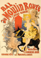Jules Cheret 'Bal au Moulin Rouge', France, 1898, Reproduction 200gsm A3 Vintage Classic Art Nouveau Poster