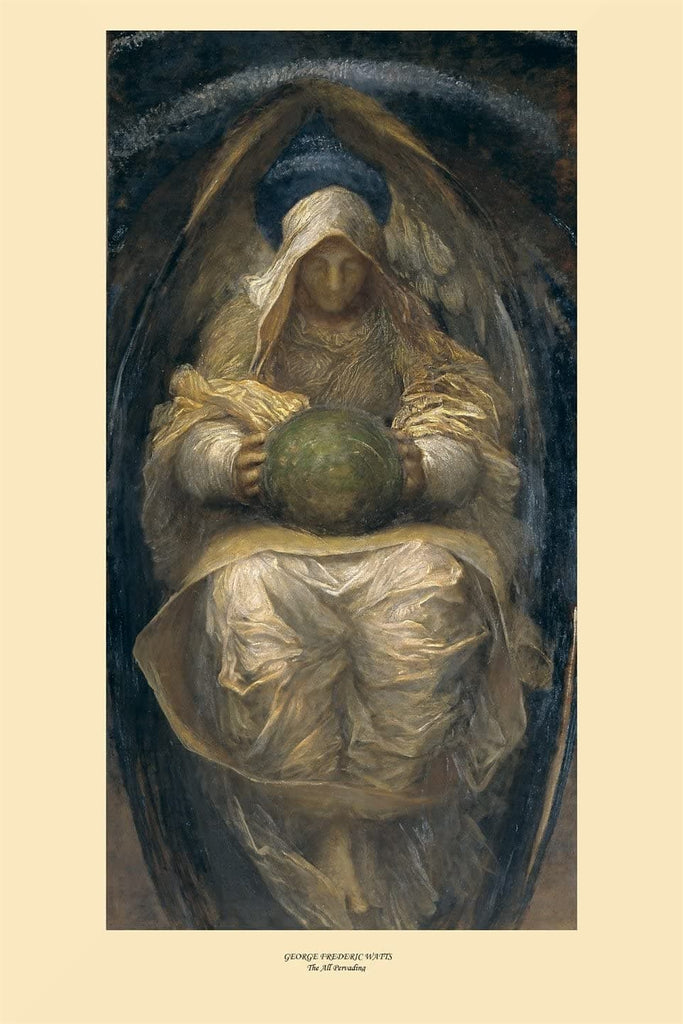 George Frederic Watts 'The All Pervading', England, 1887-90, Reproduction 200gsm A3 Vintage Classic Art Poster