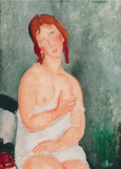Amedeo Modigliani 'Young Woman in a Shirt, Detail', Italy, 1918, Reproduction 200gsm A3 Vintage Classic Art Poster