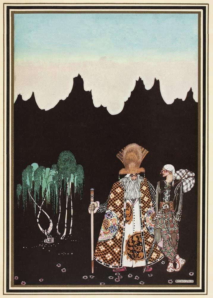 Kay Nielsen 'The Widow's Son', from 'East of The Sun and West of The Moon', Denmark, 1914, Reproduction 200gsm A3 Vintage Classic Art Nouveau Poster