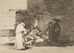Goya 'A Woman's Charity', Plate 49 from 'The Disasters of War', Spain, 1810, Reproduction 200gsm A3 Vintage Classic Art Poster