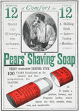 Vintage Barbershop and Salon 'Pears Shaving Soap', England, 1800's, Reproduction 200gsm A3 Vintage Barbershop Poster
