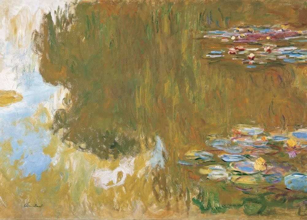 Claude Monet 'The Water Lily Pond, Detail', France, 1917-19, Impressionism, Reproduction 200gsm A3 Vintage Classic Art Poster