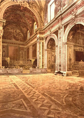 Vintage Travel Italy 'Church of San Martino, Interior, Naples', Circa. 1890-1910, Reproduction 200gsm A3 Vintage Travel Photography Poster