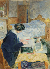 Edouard Vuillard 'Lucy Hessel Reading', France, 1913, Impressionism, Reproduction 200gsm A3 Vintage Classic Art Poster