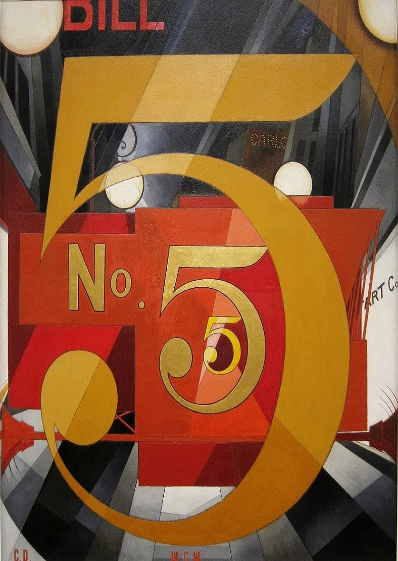 Charles Demuth 'I Saw The Figure 5 in Gold', U.S.A, 1928 Cubism Avant Garde, Reproduction 200gsm A3 Vintage Classic Art Poster