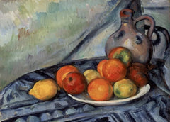 Paul Cezanne 'Fruit and a Jug on a Table', France, 1890-94, Reproduction 200gsm A3 Vintage Classic Art Poster