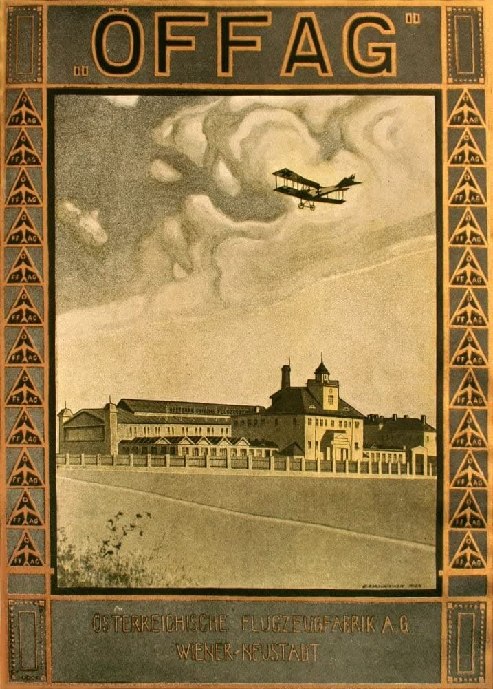 Austrian WW1 1914-18 Aviation 'Offag Aeroplane Manufacturers, Vienna', Reproduction 200gsm A3 Vintage Propaganda Poster