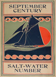 Vintage Sailing, Yachting and Rowing 'Century Magazine. Salt-Water Number', U.S.A, 1895, Reproduction 200gsm A3 Vintage Art Nouveau Sports Poster