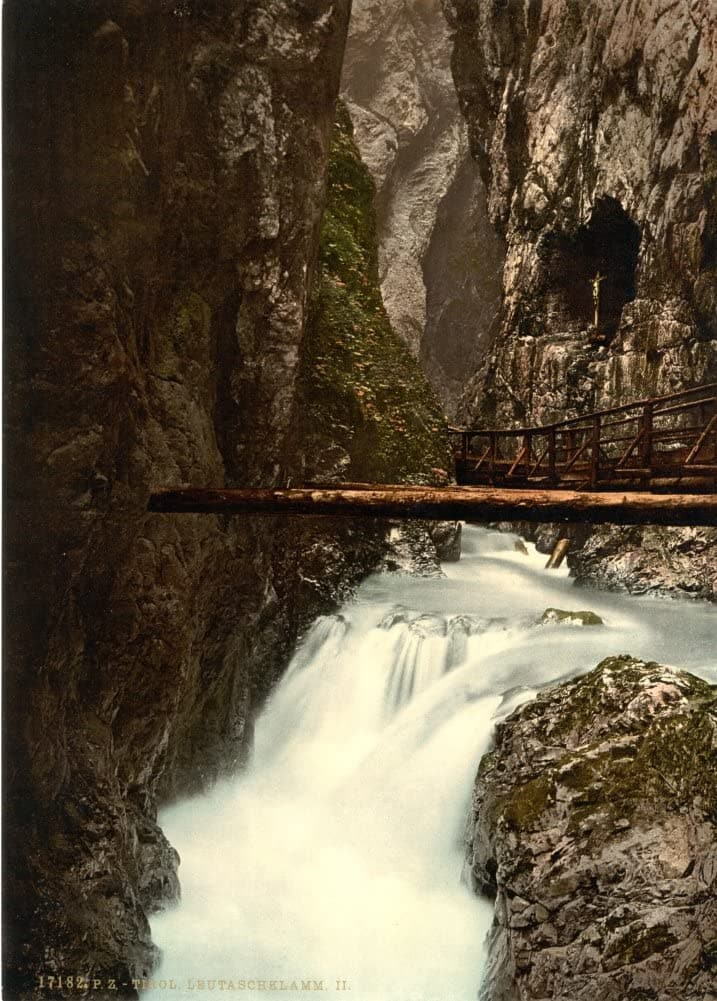 Vintage Travel Germany 'Leutaschklamm, Upper Bavaria', 1890's, Reproduction 200gsm A3 Photography Travel Poster