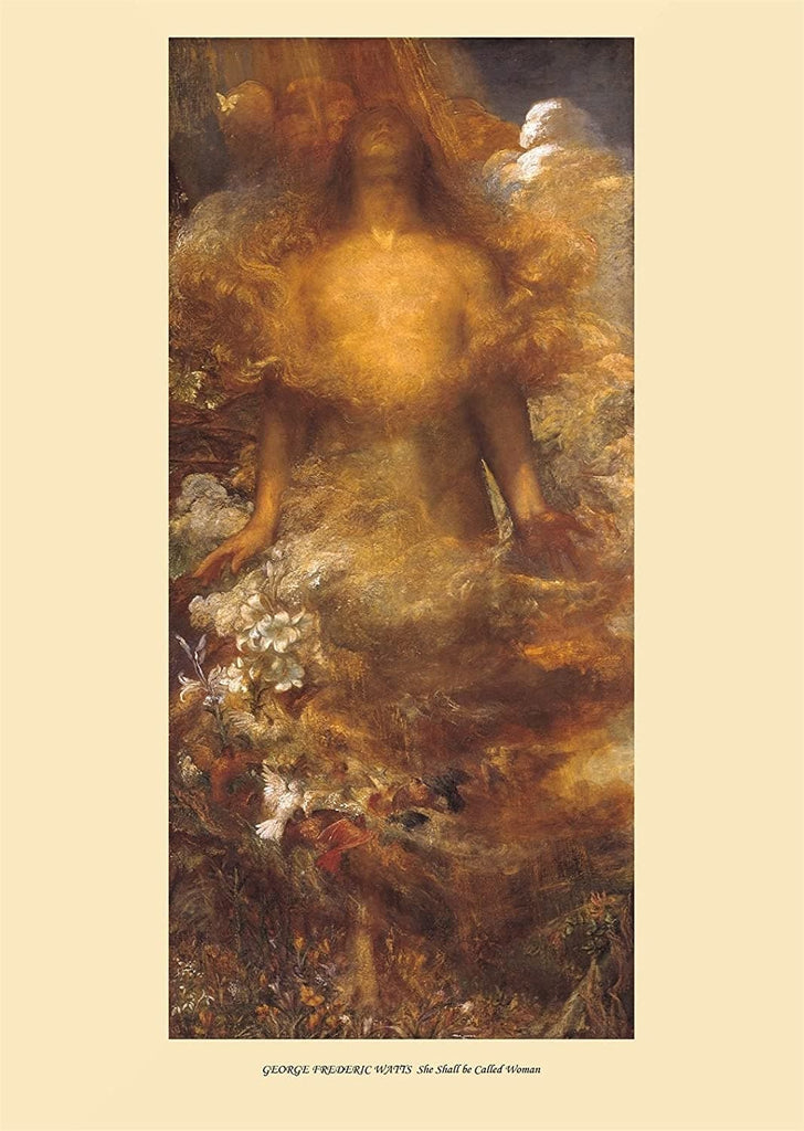 George Frederic Watts 'She Shall Be Called Woman', England, 1880, Reproduction 200gsm A3 Vintage Classic Art Poster