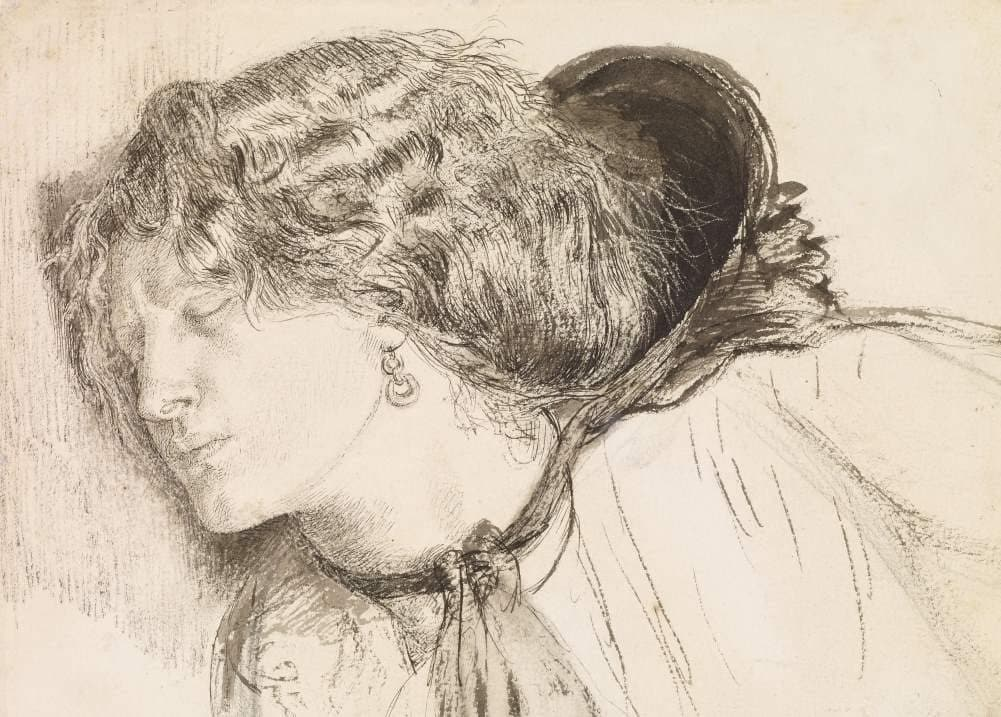 Dante Gabriel Rossetti 'Found, Study for The Head of The Girl, Detail', England, 1859-61, Reproduction 200gsm A3 Vintage Classic Art Poster